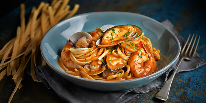 Seafood Tomato Ragu Spaghetti from Brio at Jurong Point Shopping Centre in Jurong, Singapore