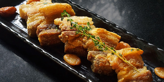 Pork Crackling from Canopy Garden Dining in Bishan, Singapore
