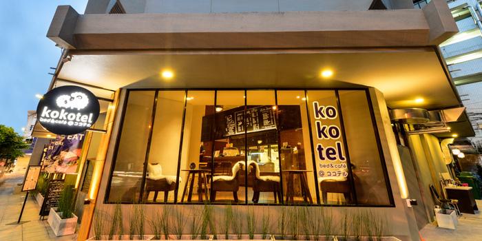 Exterior of cafe@kokotel in Surawong Road, Bangkok