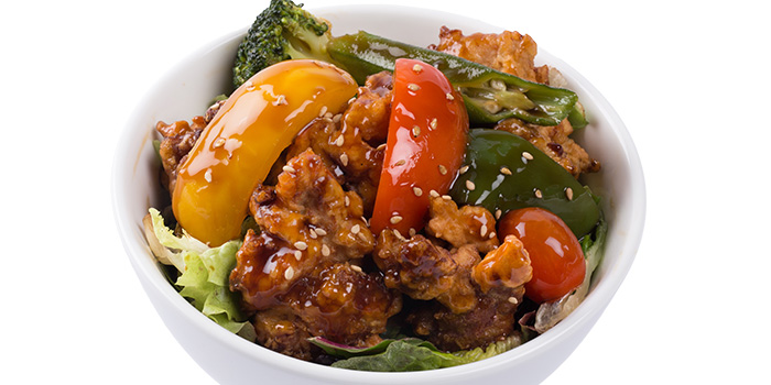 Chicken with Black Vinegar Sauce from GOHAN CAFE by KACYO at Aperia Mall in Lavender, Singapore