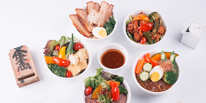 Food Spread from GOHAN CAFE by KACYO at Aperia Mall in Lavender, Singapore