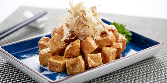 Crispy Beancurd with Bonito Flakes from Ocean Spoon Dining (SAF Yacht Club) in Sembawang, Singapore