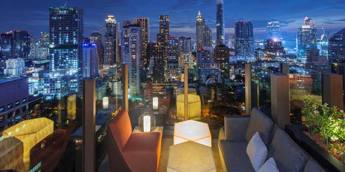 Outdoor Area from CHAR Bangkok at Hotel Indigo Bangkok Wireless Road, Bangkok