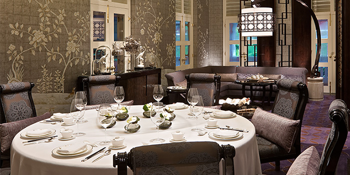Private Dining of Cassia serving Chinese cuisine at Capella Hotel on Sentosa Island, Singapore