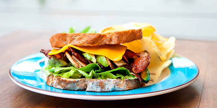 Grilled Chicken Bacon Cheese Sandwich from Prive CHIJMES in City Hall, Singapore