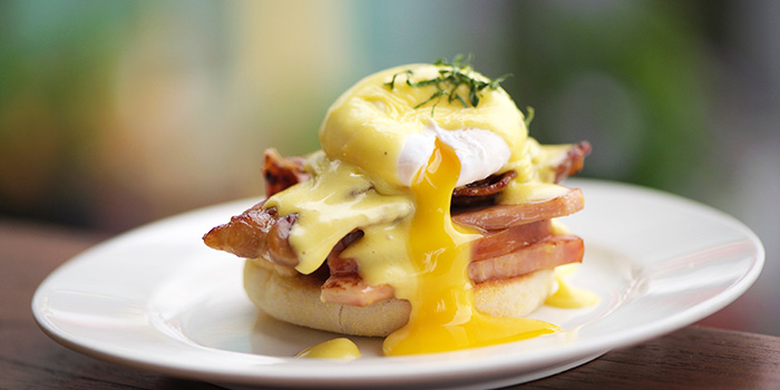 Eggs Benedict from Privé Orchard in Orchard Road, Singapore