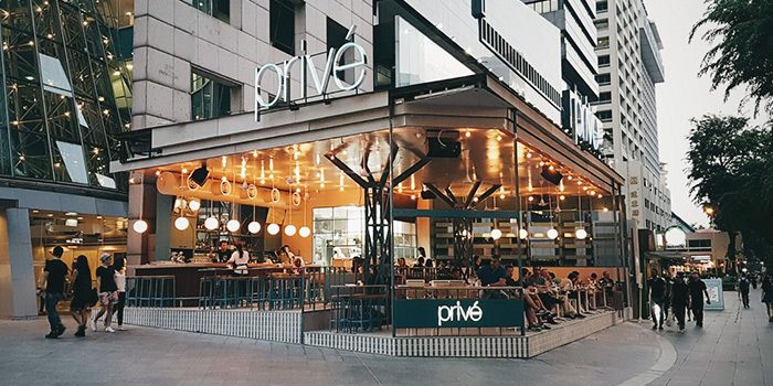 Exterior of Privé Orchard in Orchard Road, Singapore
