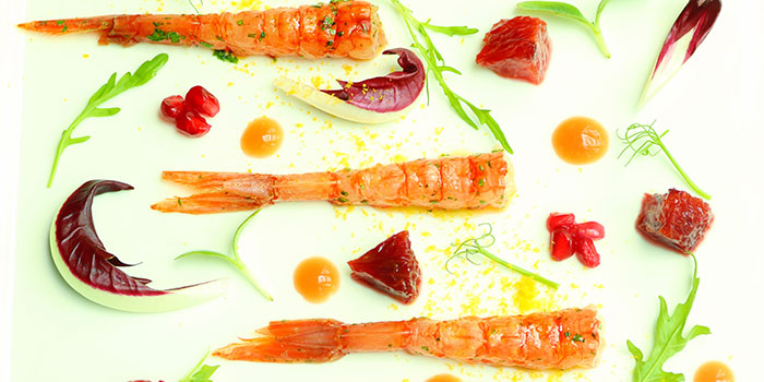 Red Prawns from Zafferano in Collyer Quay, Singapore