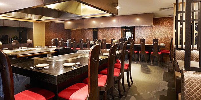 Interior of Shima Restaurant at Goodwood Park Hotel in Orchard, Singapore