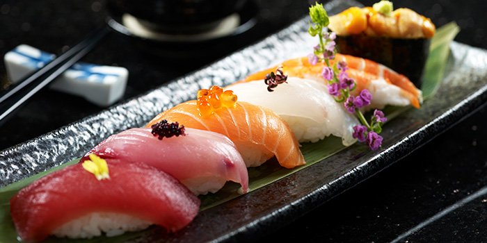 Sushi Moriawase from Shima Restaurant at Goodwood Park Hotel in Orchard, Singapore