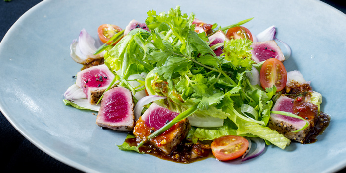 Spicy Tuna Salad from HQ Beach Lounge on Kamala Beach, Phuket, Thailand