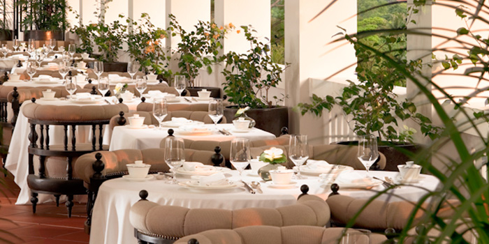Terrace Dining of Cassia serving Chinese cuisine at Capella Hotel on Sentosa Island, Singapore