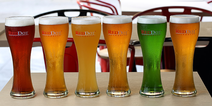 Beers from Beer Factory in Raffles Place, Singapore