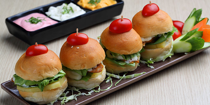 Sliders from Beer Factory in Raffles Place, Singapore
