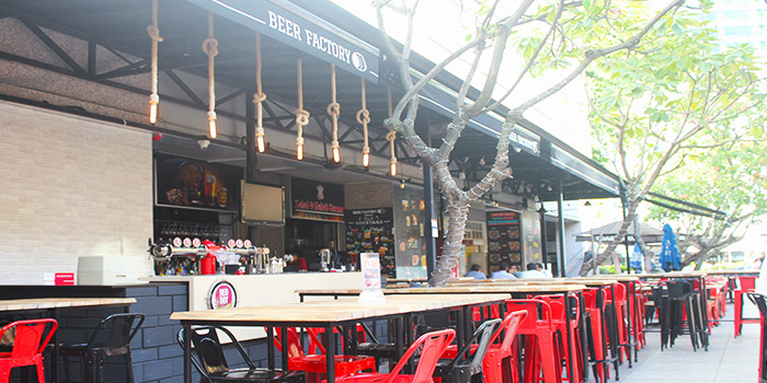 Exterior of Beer Factory in Raffles Place, Singapore