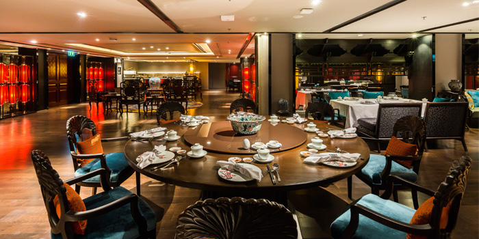Dining Area from The Pagoda at Bangkok Marriott Marquis Queen