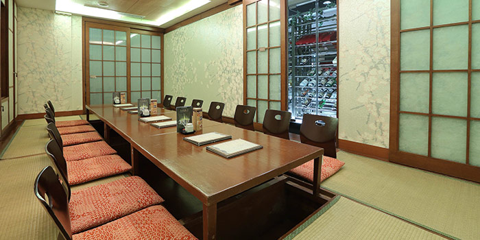 Private Dining Room of Kiraku in Raffles Place, Singapore