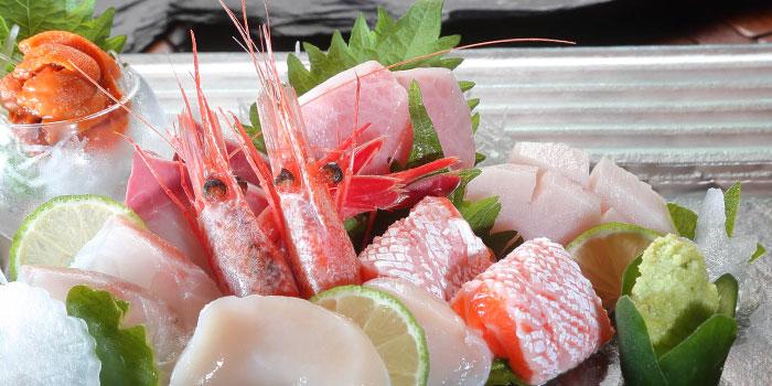 Sashimi from Kiraku in Raffles Place, Singapore