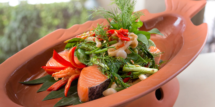 Mok Pla Trout from Sheraton Grande Hotel, on Sukhumvit Road