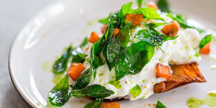 Burrata, Sweet Potato, Thai Basil from Moosehead Kitchen & Bar on Telok Ayer Street, Singapore
