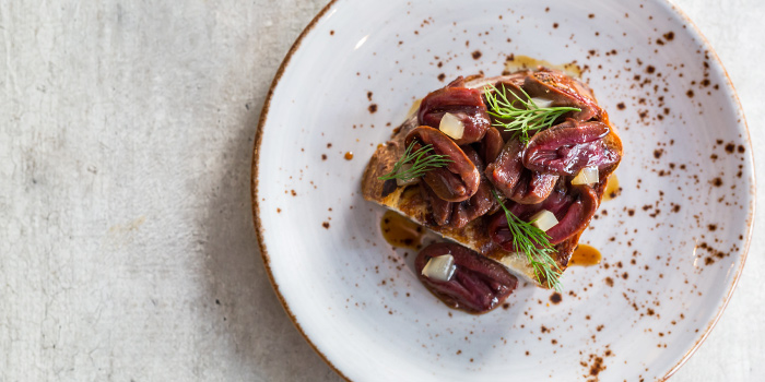 Grilled Duck Hearts from Moosehead Kitchen & Bar on Telok Ayer Street, Singapore
