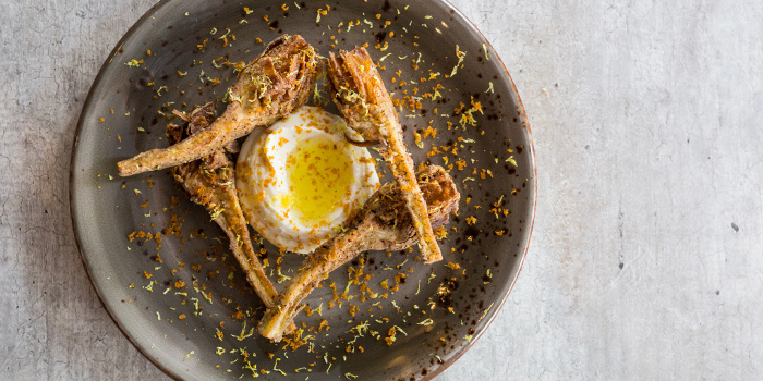 Ricotta, Fried Artichoke, Bottarga from Moosehead Kitchen & Bar on Telok Ayer Street, Singapore