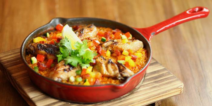 Paella Chicken from Clandestino Cantina in Sathorn Soi 10, Bangkok