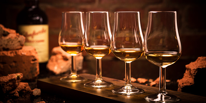 Whisky Flight from The Wall Singapore in Tanjong Pagar, Singapore