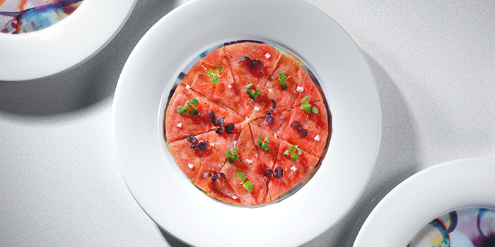 Tuna Pizza from Akira Back in JW Marriott Hotel Singapore South Beach in City Hall, Singapore