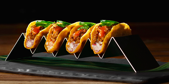 Wagyu Tacos from Akira Back in JW Marriott Hotel Singapore South Beach in City Hall, Singapore