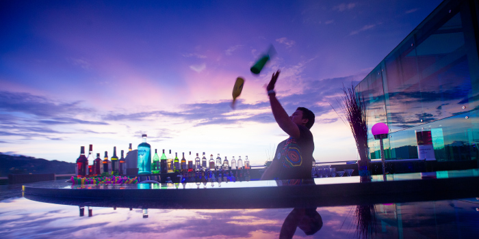 Bartender of KEE Sky Lounge in Patong, Phuket, Thailand