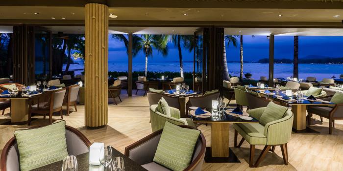 Beachfront-Dinning of Phuket Marriott Resort and Spa, Nai Yang Beach, Phuket, Thailand.