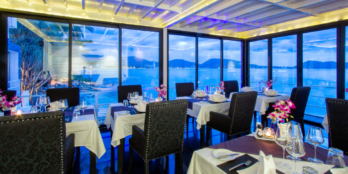 Black Room of White Box Restaurant in Patong, Kathu, Phuket, Thailand