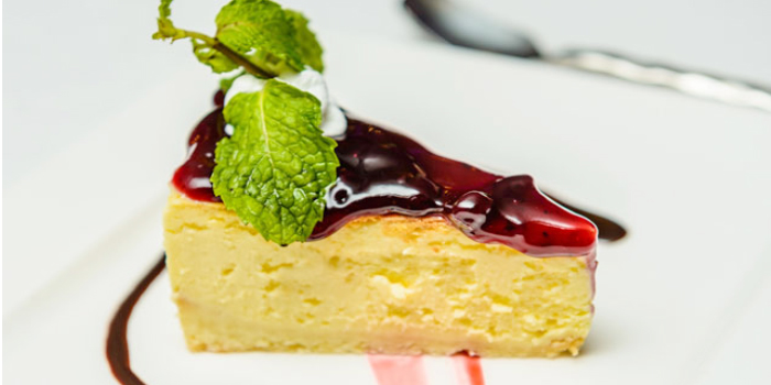 Blueberry Cheesecake from KEE Sky Lounge in Patong, Phuket, Thailand