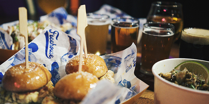 Sliders & Beer from Freehouse in Raffles Place, Singapore
