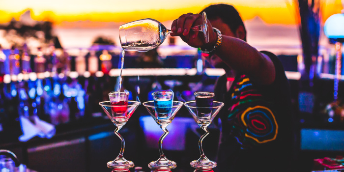 Colorful Cocktails at KEE Sky Lounge of KEE Sky Lounge in Patong, Phuket, Thailand