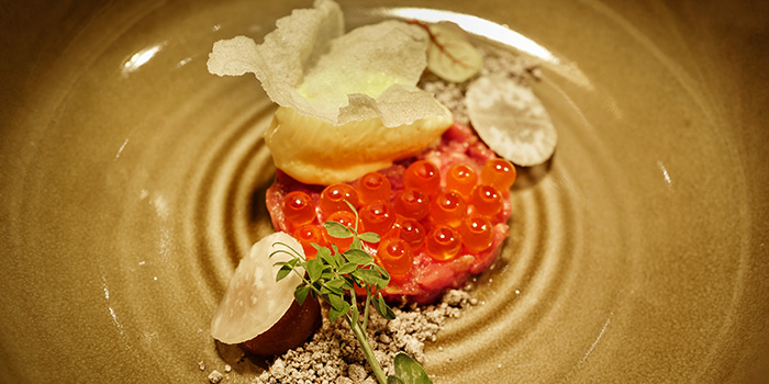 Beef Tartare from DSTLLRY par Christophe Lerouy in Queenstown, Singapore