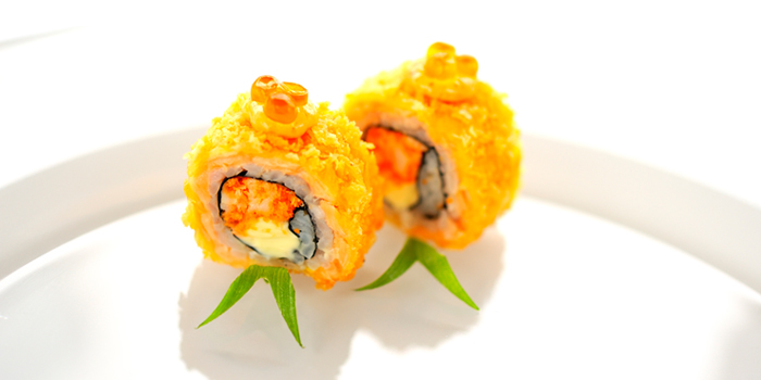 Deep Fried Salmon Maki Roll from Utage at Plaza Athénée Bangkok, A Royal Meridien Hotel, Bangkok