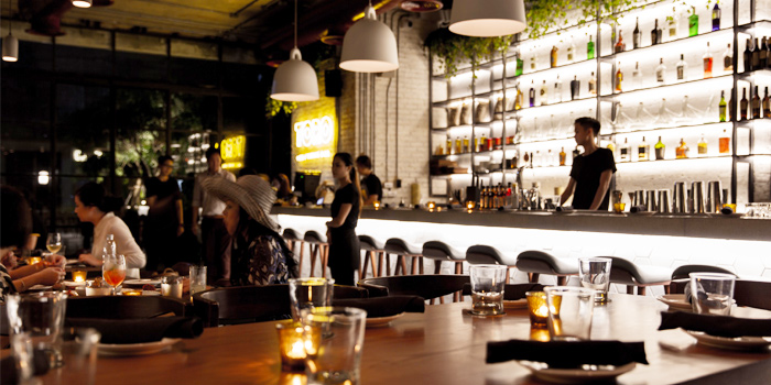 Dinning and Bar area of TORO at 72 Courtyard FL 1, 72 Sukhumvit 55 Thonglor, Bangkok