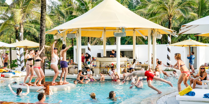 Dream Beach Pool Party of Dream Beach Club in Layan, Phuket, Thailand