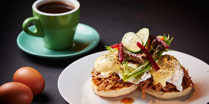 Eggs Benedict from Espressolab at China Square Central in Raffles Place, Singapore