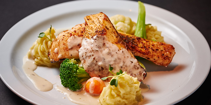 Grilled Salmon from Espressolab at China Square Central in Raffles Place, Singapore