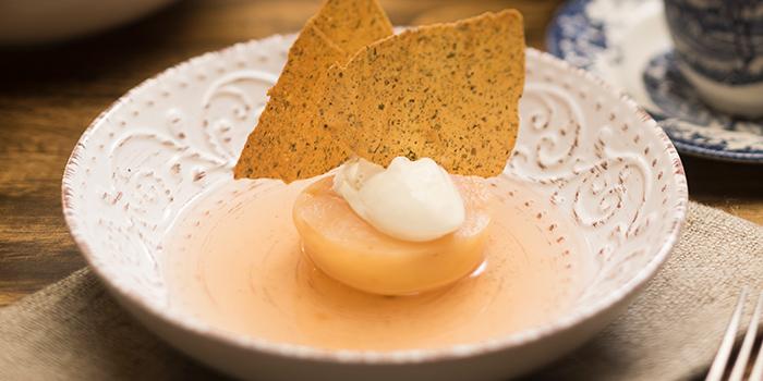 Peach Vanilla Lievito Madre Ice Cream from Firebake - Woodfired Bakehouse & Restaurant in East Coast, Singapore