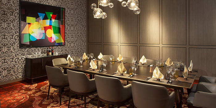 Private Room of Grissini at Grand Copthorne Waterfront Hotel in Robertson Quay, Singapore
