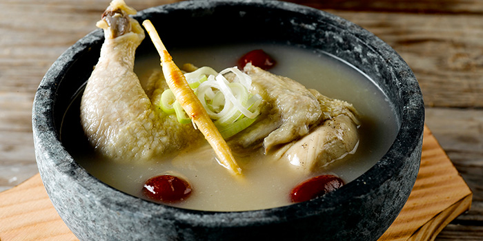 Ginseng Chicken Soup from K-Tower on Amoy Street in Tanjong Pagar, Singapore