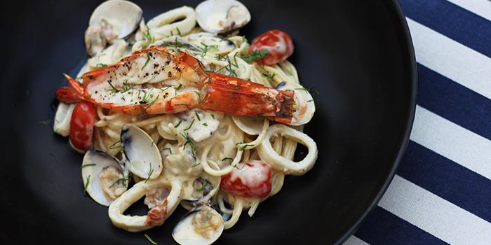 Seafood Carbonara from Kontiki in Kallang, Singapore