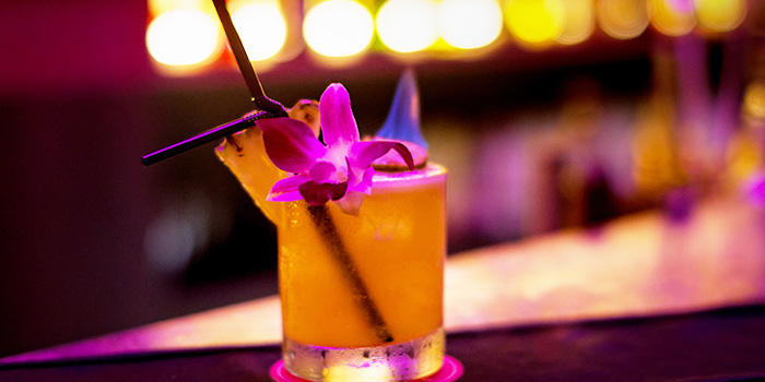 Cocktail from Lucky Bar in Holland Village, Singapore