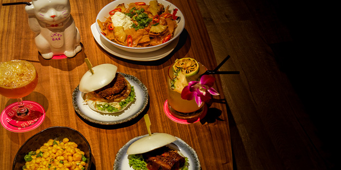 Food Spread from Lucky Bar in Holland Village, Singapore