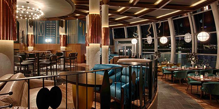 Interior of Monti in Fullerton, Singapore