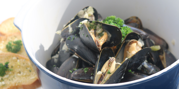 Moules Mariniere from White Box Restaurant in Patong, Kathu, Phuket, Thailand
